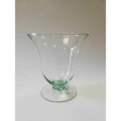 Üveg váza Ø15x15,5 cm