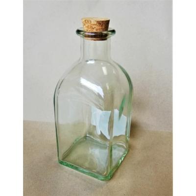 Üvegpalack parafa dugóval, szögletes