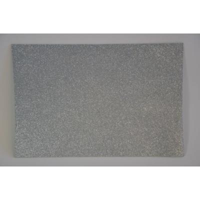 Dekorgumi glitteres 20x30 cm, EZÜST