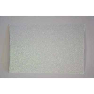 Dekorgumi glitteres 20x30 cm, FEHÉR AB