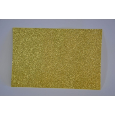 Dekorgumi glitteres 20x30 cm, SÁRGA