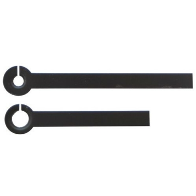 Fém óramutató pár, 35/25 mm egyenes fekete