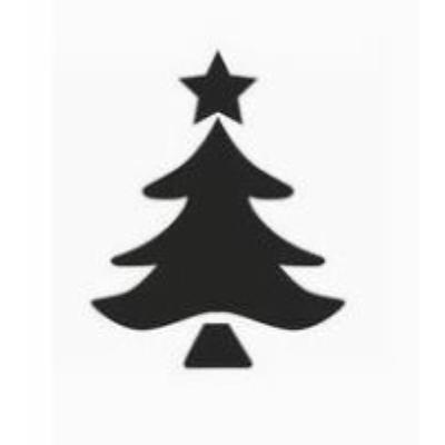 Fenyőfa csillaggal 25mm