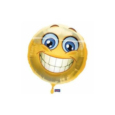 17 inch-es Mosolygós - Smile Emoji Fólia Lufi