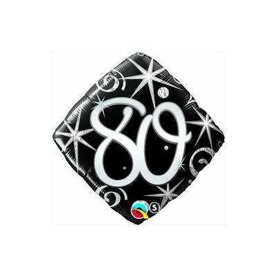 18 inch-es 80-as Elegant Sparkles and Swirls Szülinapi Számos Fólia Lufi