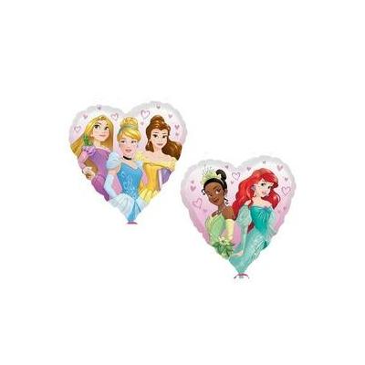 18 inch-es Multi-Disney Princess - Hercegnők Szív Alakú Fólia Lufi