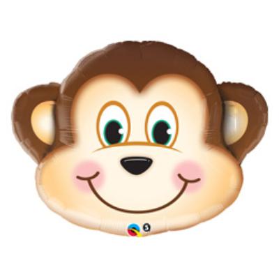 35 inch-es Mosolygós Majom Fej - Mischievous Monkey Super Shape Fólia Lufi