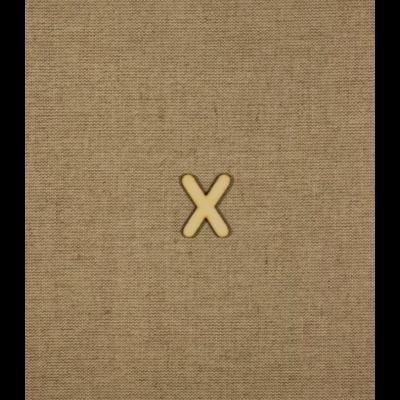Fabetű, faszám - X - 2db/cs, 33x2 mm