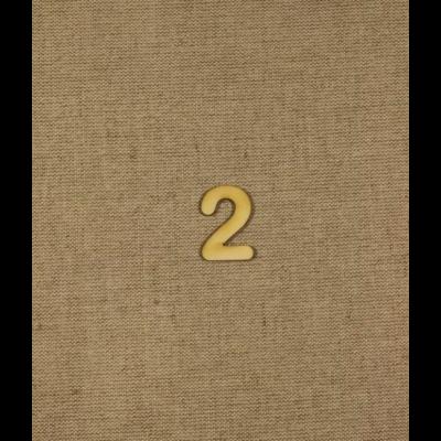 Fabetű, faszám - 2 - 2db/cs, 33x2 mm