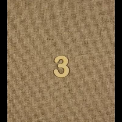Fabetű, faszám - 3 - 2db/cs, 33x2 mm