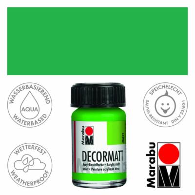 Marabu Decormatt - Matt akrilfesték 15 ml - Yellow Green - 066