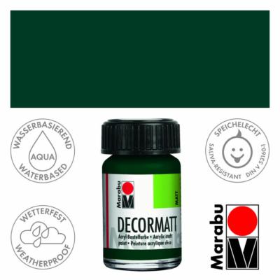 Marabu Decormatt - Matt akrilfesték 15 ml - Pine Green - 075