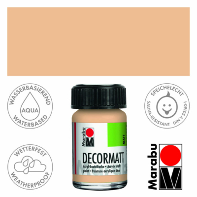Marabu Decormatt - Matt akrilfesték 15 ml - Rose Beige - 029