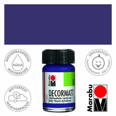 Marabu Decormatt - Matt akrilfesték 15 ml - Dark Violet - 051