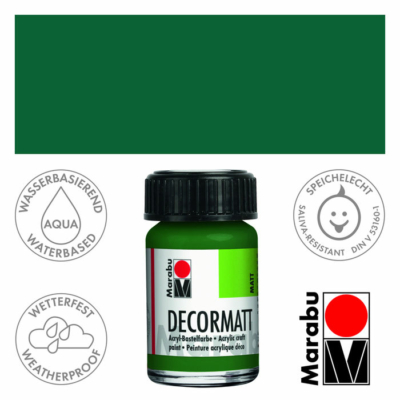 Marabu Decormatt - Matt akrilfesték 15 ml - Olive Green - 065