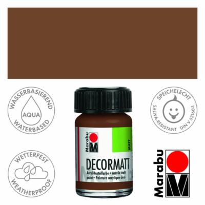 Marabu Decormatt - Matt akrilfesték 15 ml - Light Brown - 047
