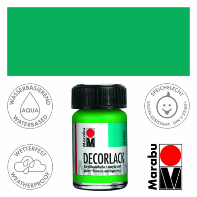 Marabu Decorlack - Fényes akrilfesték 15ml - Light Green - 062