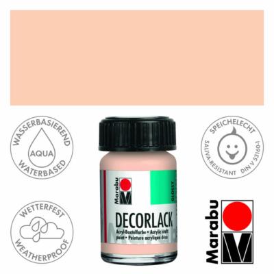 Marabu Decorlack - Fényes akrilfesték 15ml - Rosé Beige - 029