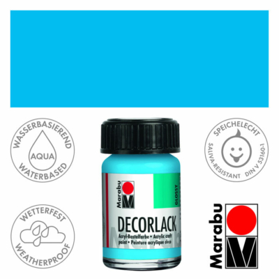 Marabu Decorlack - Fényes akrilfesték 15ml - Light Blue - 090