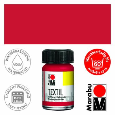 Marabu Textilfesték 15ml - Coral Red - 036