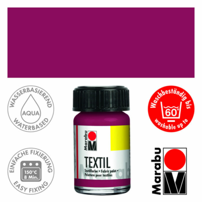 Marabu Textilfesték 15ml - Bordeaux - 034