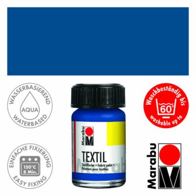 Marabu Textilfesték 15ml - Medium Blue - 052