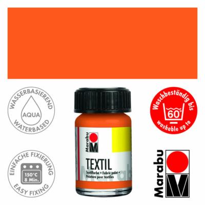 Marabu Textilfesték 15ml - Orange - 013
