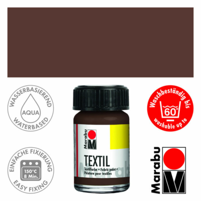 Marabu Textilfesték 15ml - Dark Brown - 045