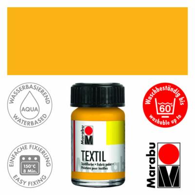 Marabu Textilfesték 15ml - Medium Yellow - 021