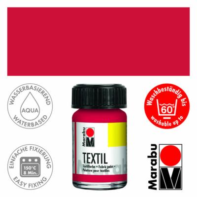 Marabu Textilfesték 15ml - Carmine Red - 032