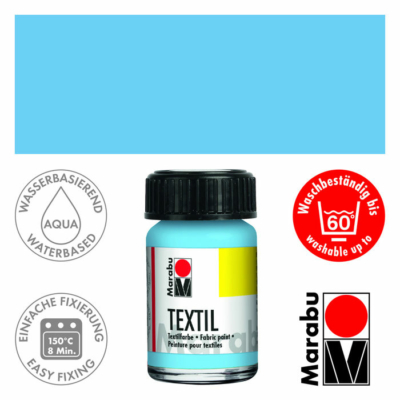 Marabu Textilfesték 15ml - Light Blue - 090