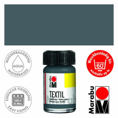 Marabu Textilfesték 15ml - Grey - 078