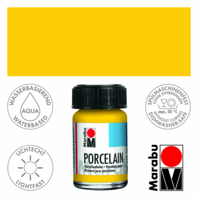 Marabu Porcelain - Porcelánfesték 15ml - Sunshine Yellow - 220