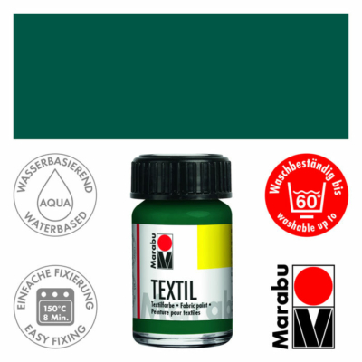 Marabu Textilfesték 15ml - Dark Green - 068