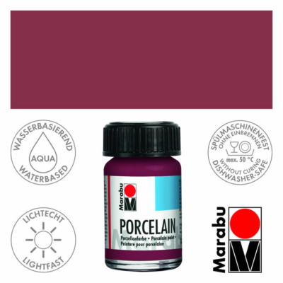 Marabu Porcelain - Porcelánfesték 15ml - Blackberry - 223