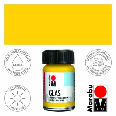 Marabu Glas üvegfesték 15ml - Sunshine Yellow - 220