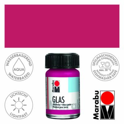 Marabu Glas üvegfesték 15ml - Raspberry - 131