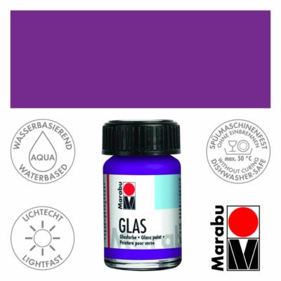 Marabu Glas üvegfesték 15ml - Amethyst - 081