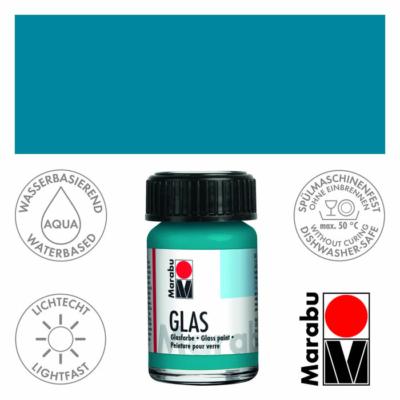 Marabu Glas üvegfesték 15ml - Petrol - 092