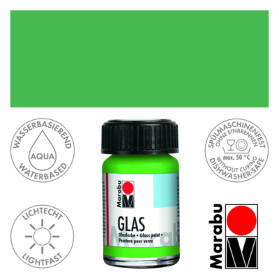 Marabu Glas üvegfesték 15ml - Light Green - 062