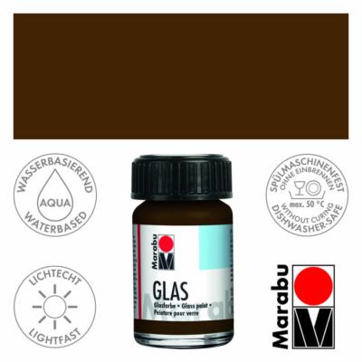 Marabu Glas üvegfesték 15ml - Cocoa - 295