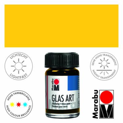 Marabu Glas-Art üvegfesték 15ml - Yellow - 421