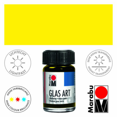Marabu Glas-Art üvegfesték 15ml - Lemon - 420