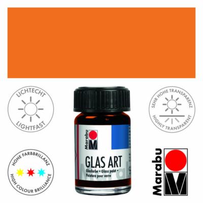 Marabu Glas-Art üvegfesték 15ml - Yellow Orange - 422