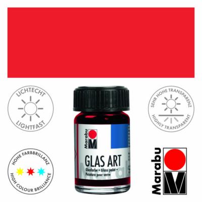 Marabu Glas-Art üvegfesték 15ml - Vermilion - 436