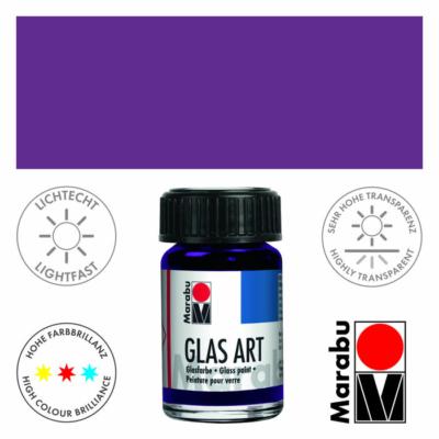 Marabu Glas-Art üvegfesték 15ml - Violet - 450