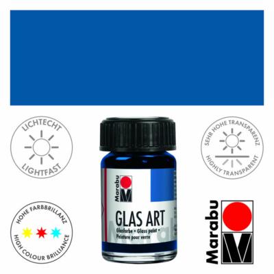 Marabu Glas-Art üvegfesték 15ml - Dark Ultramarine - 455