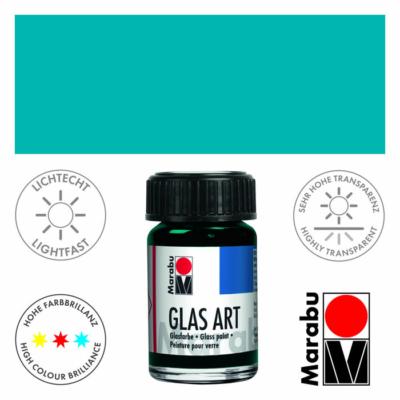 Marabu Glas-Art üvegfesték 15ml - Turquoise - 498