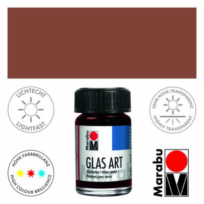 Marabu Glas-Art üvegfesték 15ml - Brown - 440