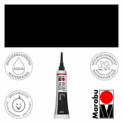 Marabu Relief Paste - Üvegkontúrozó 20ml - Black - 073